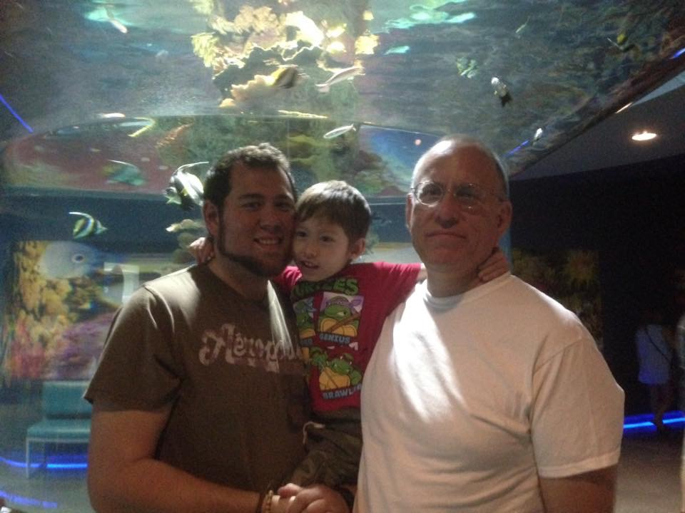 Chuck at the aquarium